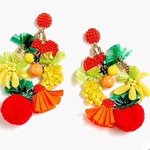 J crew  fruit 🍉 bowl earrings